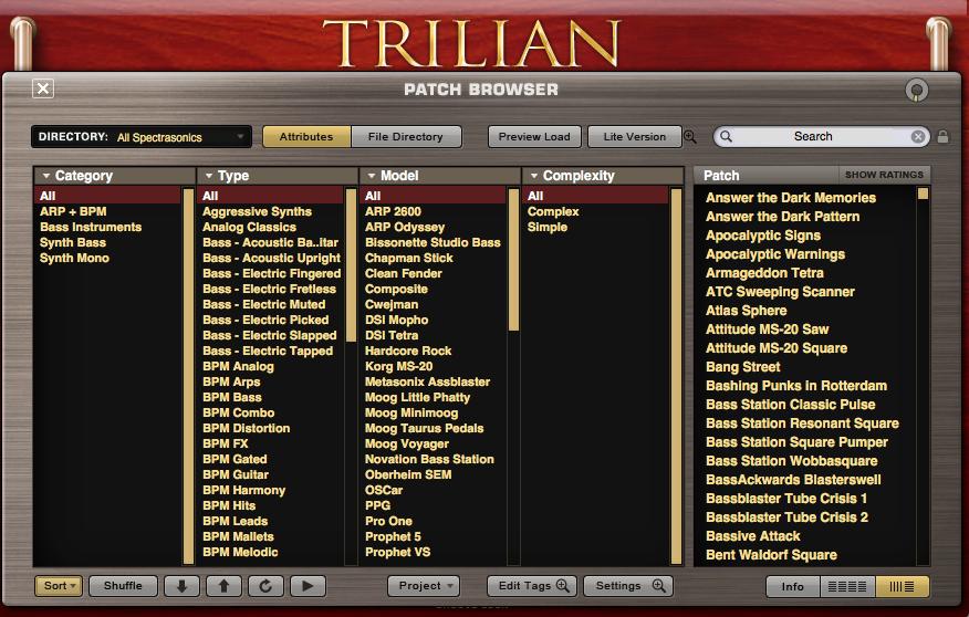 Trilian 音色
