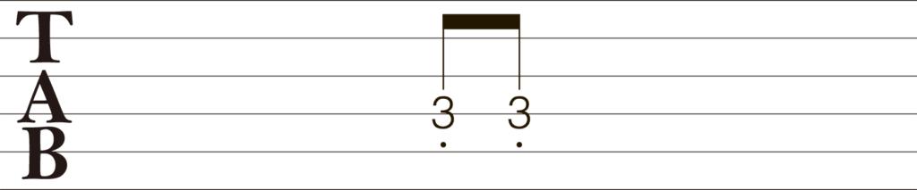 ギターTAB譜ミュート