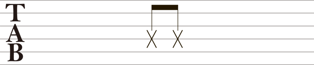 ギターTAB譜ブラッシング