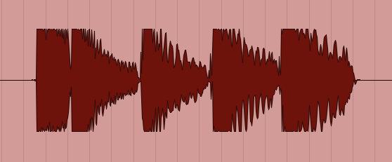 クリッピングした波形